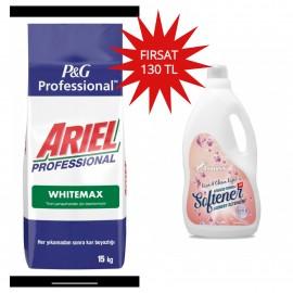 Ariel Profesyonel White Max 15 Kg+Lyniss Yumuşatıcı