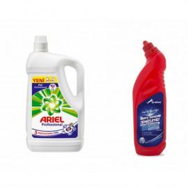 Ariel Professional Sıvı Çamaşır Deterjanı (4.55 Lt)+Lyniss Banyo