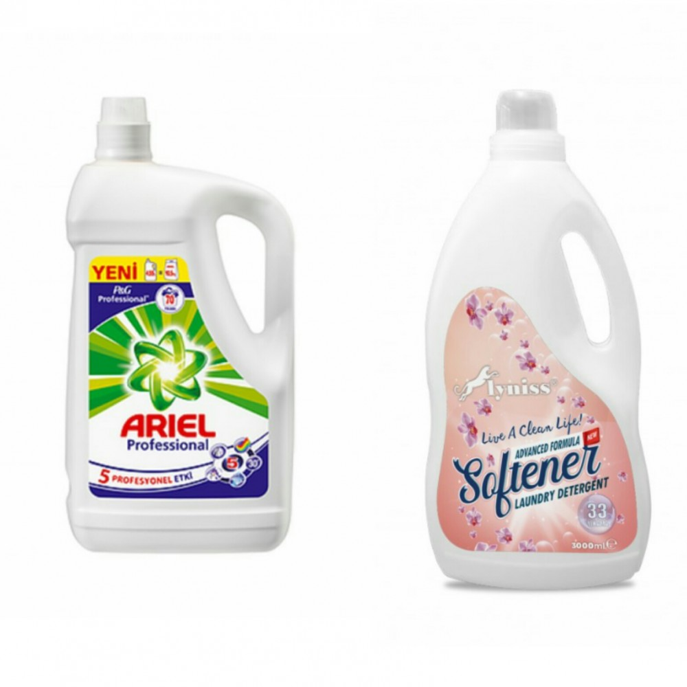 Ariel Professional Sıvı Çamaşır Deterjanı (4.55 Lt)+Lyniss Yumuşatıcı