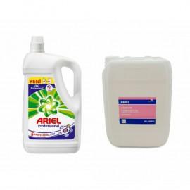 Ariel Professional Sıvı Çamaşır Deterjanı (4.55 Lt)+Silanss Yumuşatcı 5 Lt