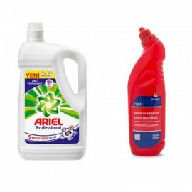 Ariel Professional Sıvı Çamaşır Deterjanı (4.55 Lt)+Silanss Banyo